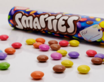 bus smarties en verschillende losse smarties